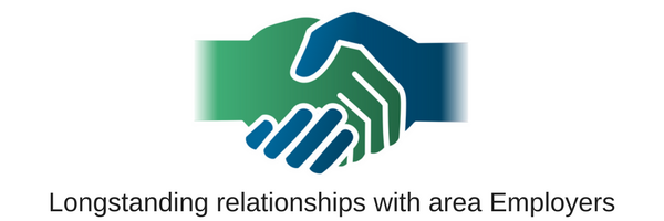 Longstanding relationships with area Employers(1)