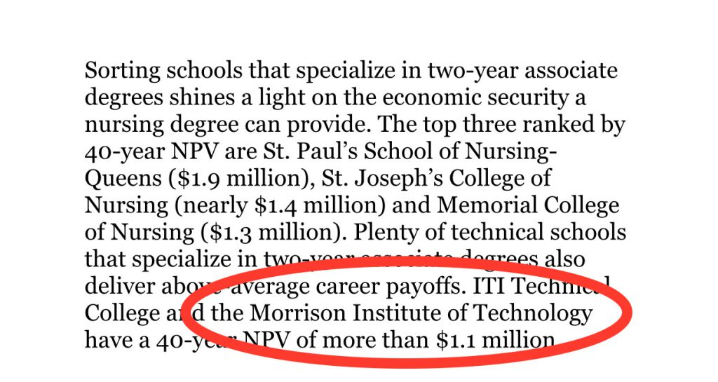 Chicago Tribune ?What's that college degree worth — $2 million or $248,000??
