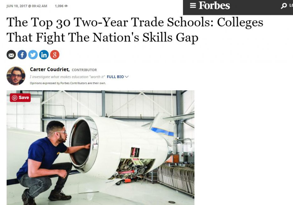 Top 30 Two Year Trade Schools